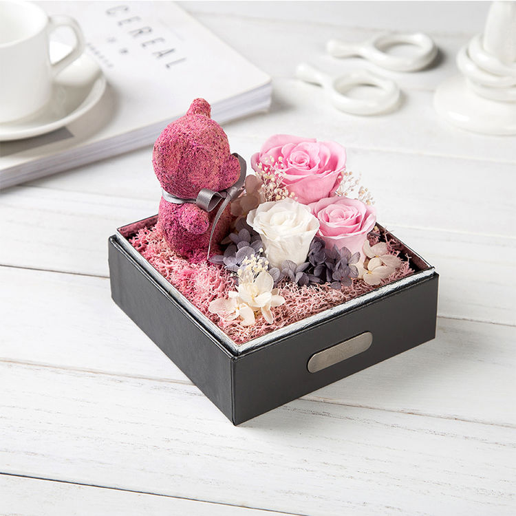 SEEROSE玫瑰小熊永生花礼盒