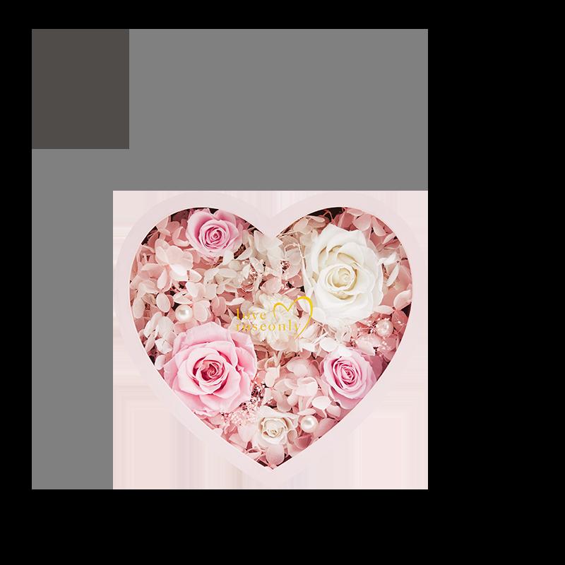 love roseonly 永生玫瑰礼盒心形花盒