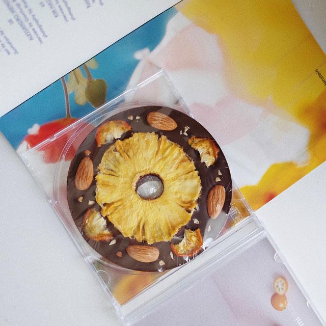 komistudio凤梨金桔CD手工创意黑巧克力伴手礼女友生日礼物零食