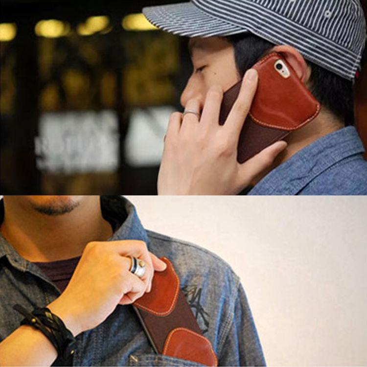 手工牛皮iPhone8手机套苹果手机壳Roberu手机保护三星S7皮套定制