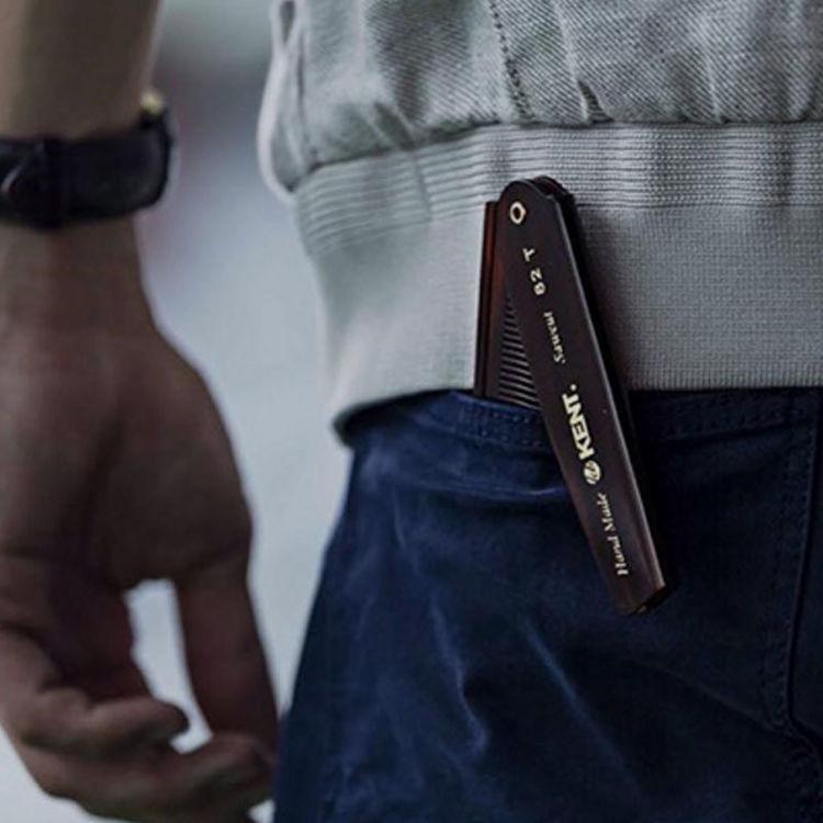 英国kent梳子 肯特梳子男士油头梳子静电梳子造型梳便携折叠梳
