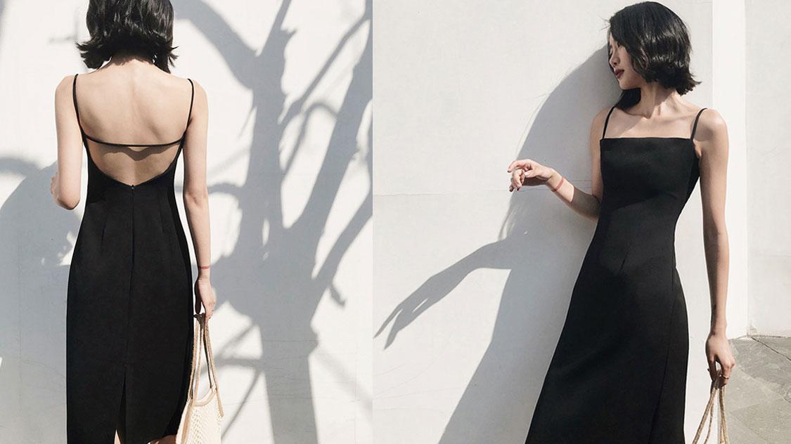 时髦小黑裙,诠释优雅风