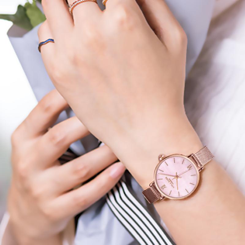 Lolarose 孔雀石纹手表