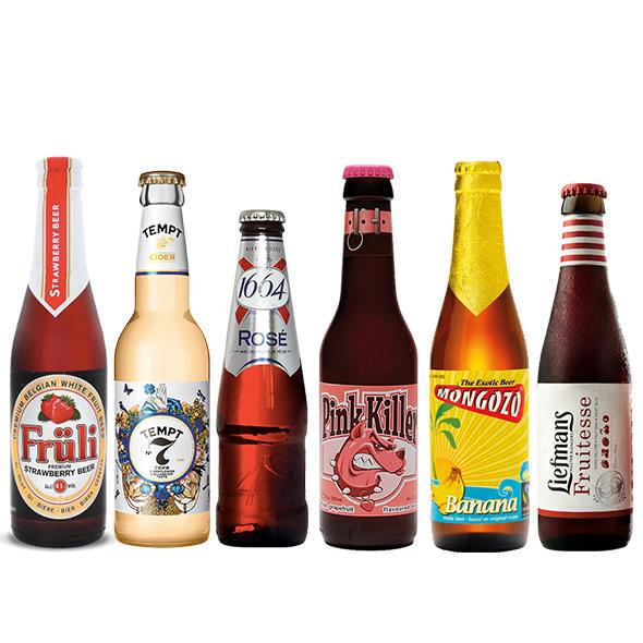 比利时水果味啤酒 精酿6瓶组合