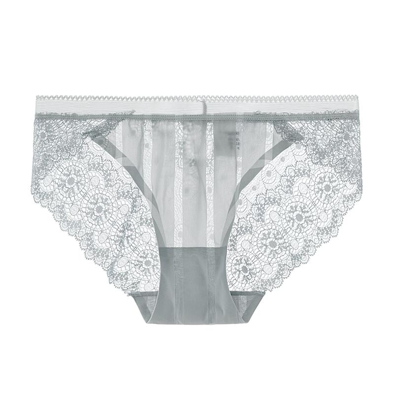性感蕾丝内裤 中腰无痕透肤