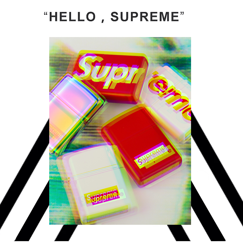 supreme字母正版zippo打火机 限量定制