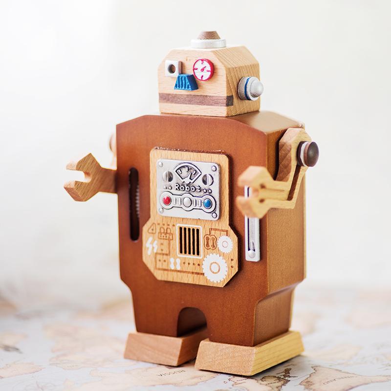 jeancard走路机器人音乐盒