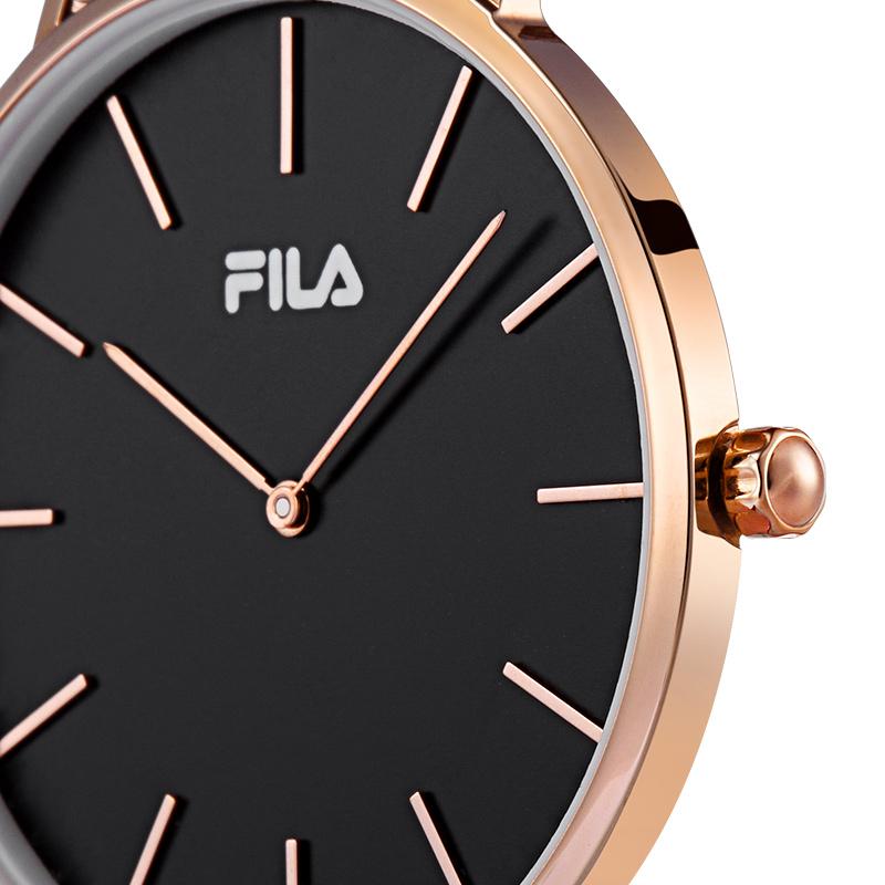 FILA 简约石英表时尚钢带腕表