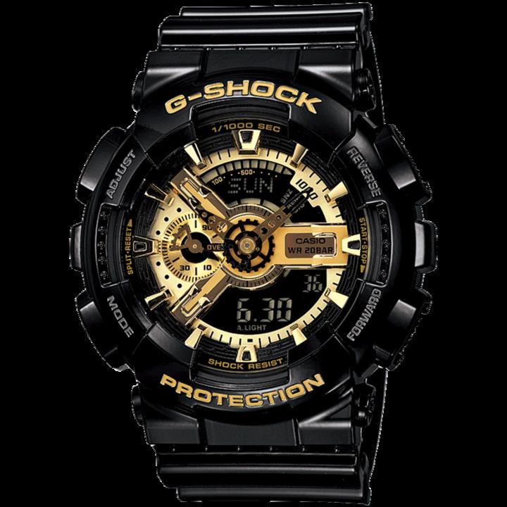 casio旗舰店 GA-110GB黑金男士手表运动