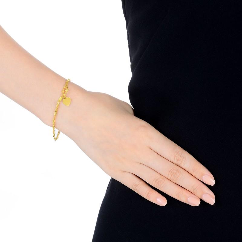 周生生 水波纹黄金手链