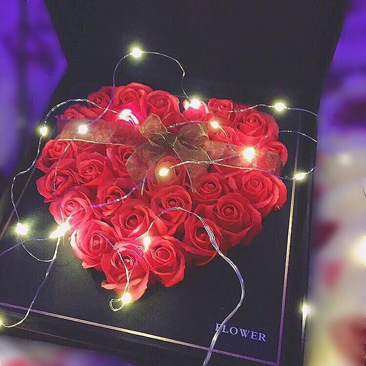 玫瑰香皂花礼盒