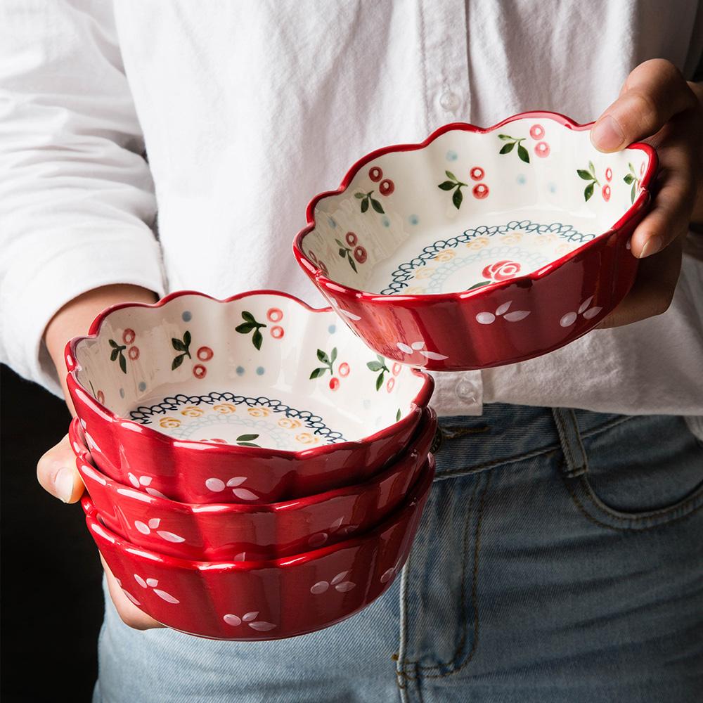 日式创意樱桃陶瓷餐具