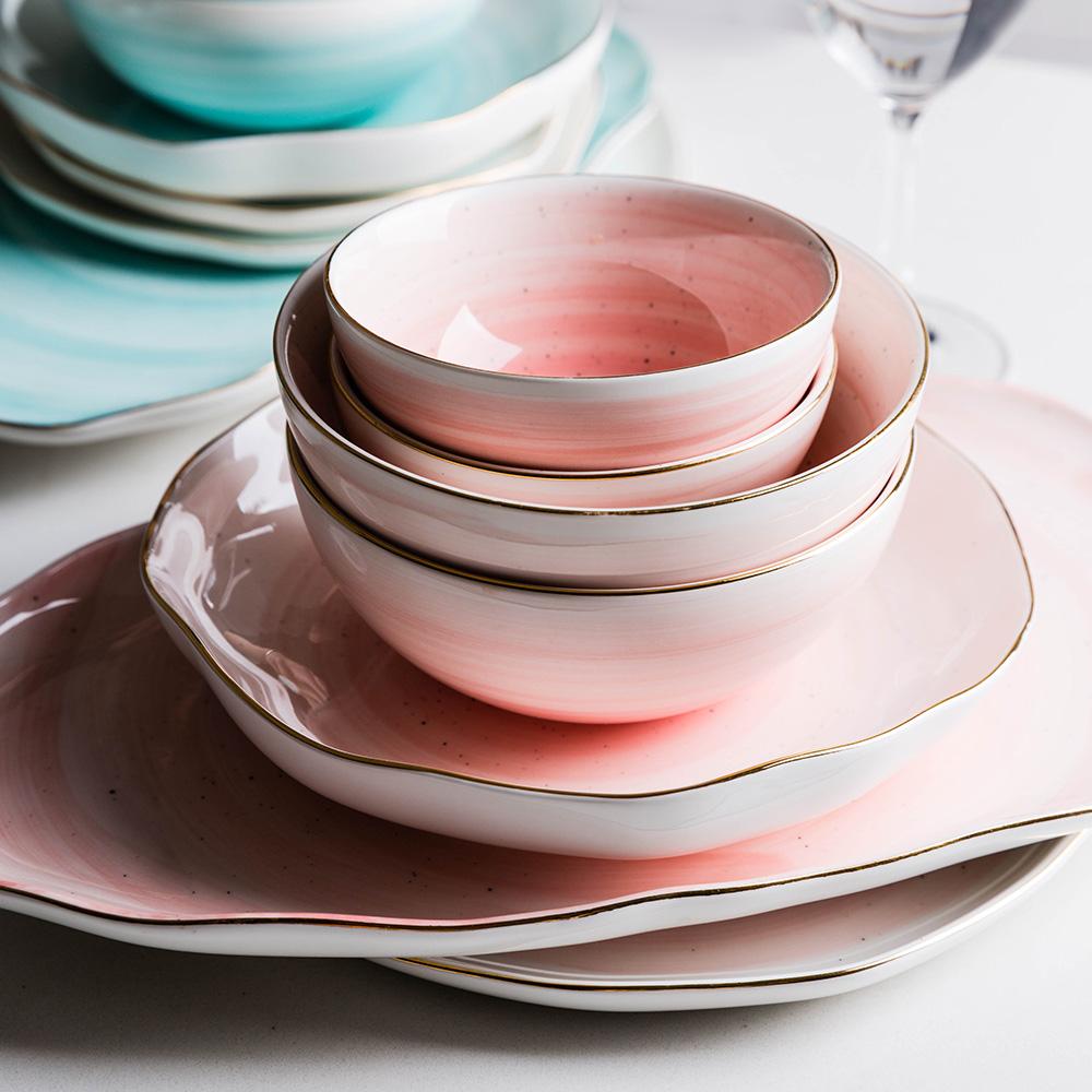 摩登主妇 欧式金边陶瓷餐具