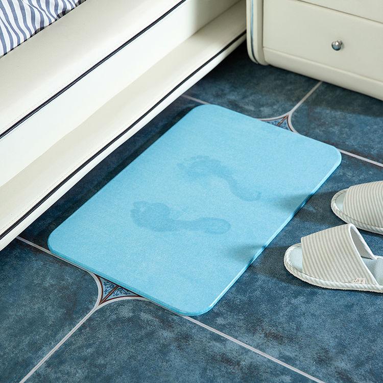 米选 硅藻泥脚垫 浴室吸水防滑