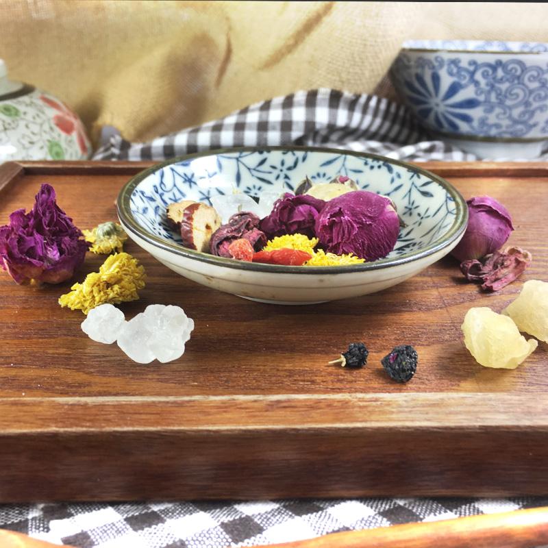 玫瑰花冠王|牡丹|黑枸杞|桂圆肉  红颜固本养生茶