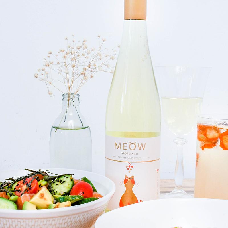 澳洲MEOW莫斯卡托 甜白起泡酒 新鲜年份敲好喝!