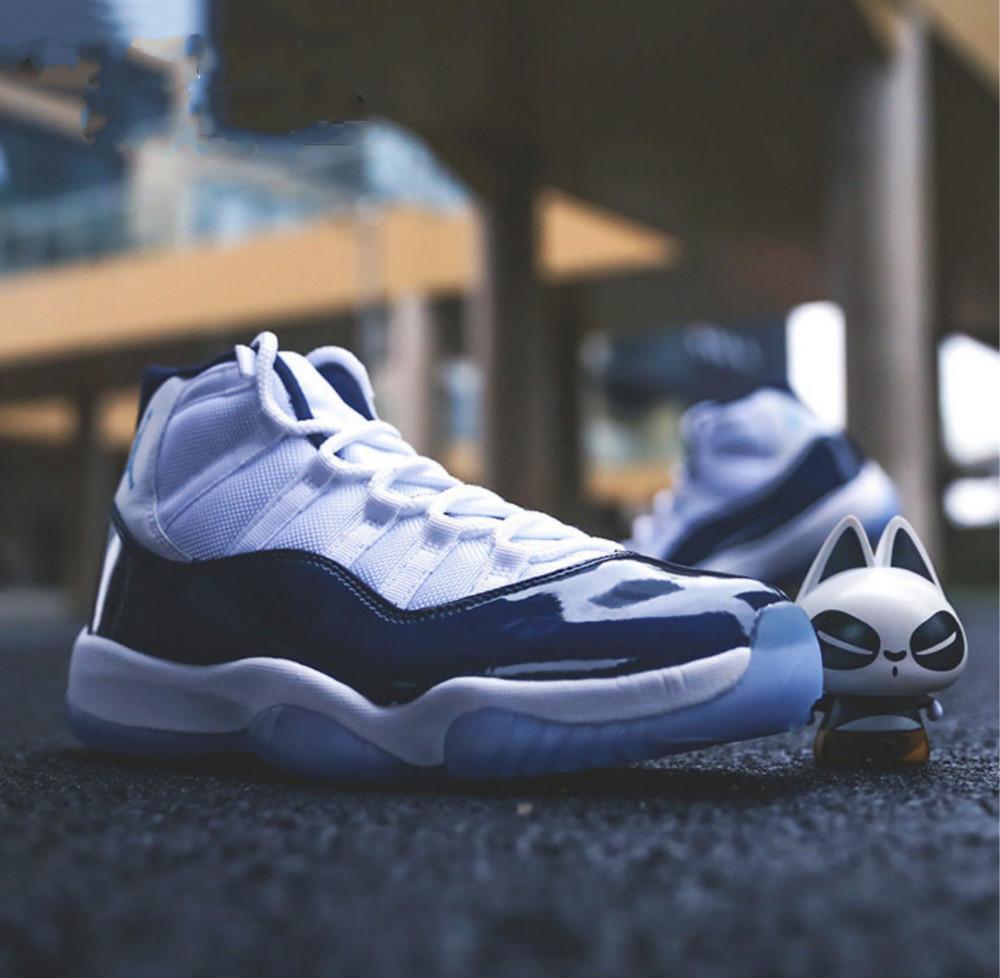 AJ11 UNC乔治城白蓝大红篮球鞋