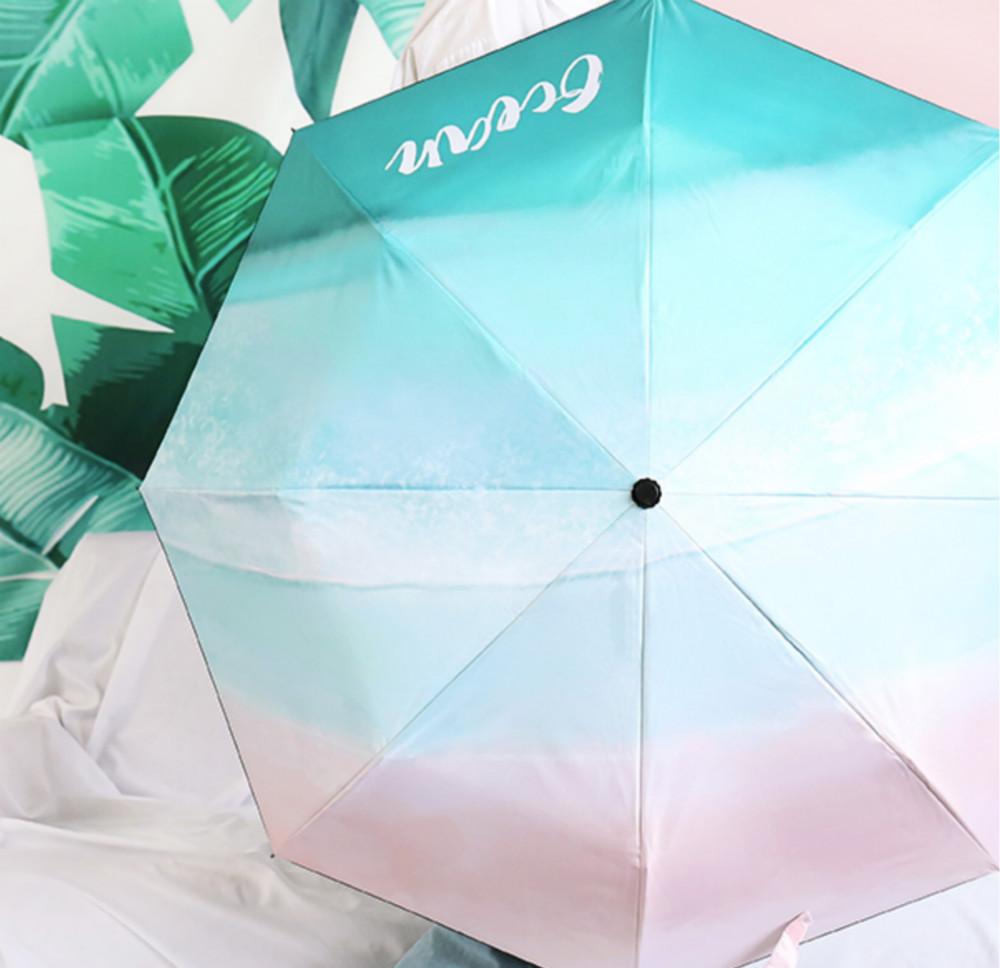 五折插画黑胶太阳伞