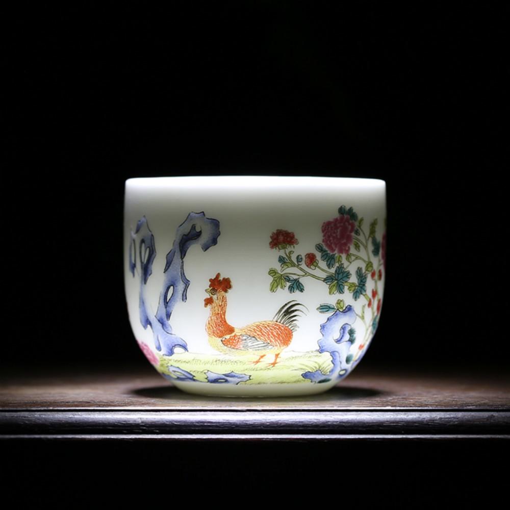 观复博物馆 仿清乾隆粉彩鸡缸杯