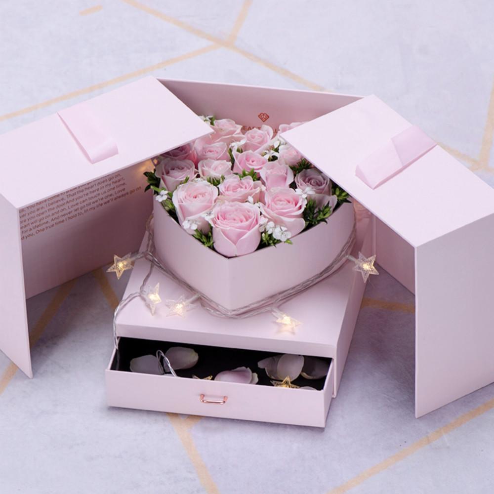创意玫瑰花盒鲜花礼盒