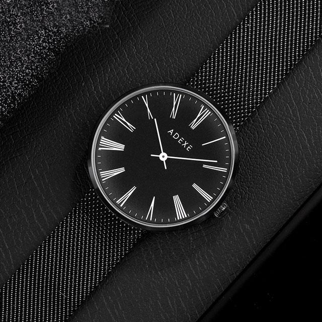 ADEXE 英国简约超薄 大表盘石英腕表