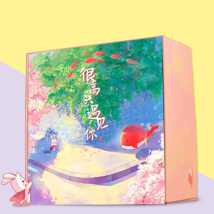 疯兔盒子 很高兴遇见你  送女友生日超大箱装创意礼盒