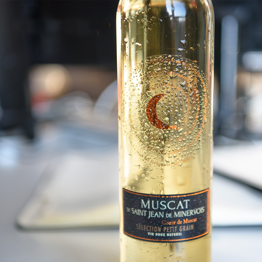 法国小月亮 晚收甜白葡萄酒小瓶500ml