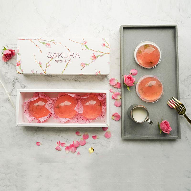 樱花果冻礼盒 日式水信玄饼