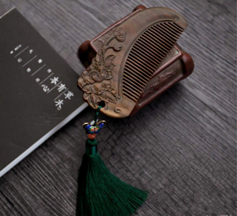 檀香绿檀木梳礼盒