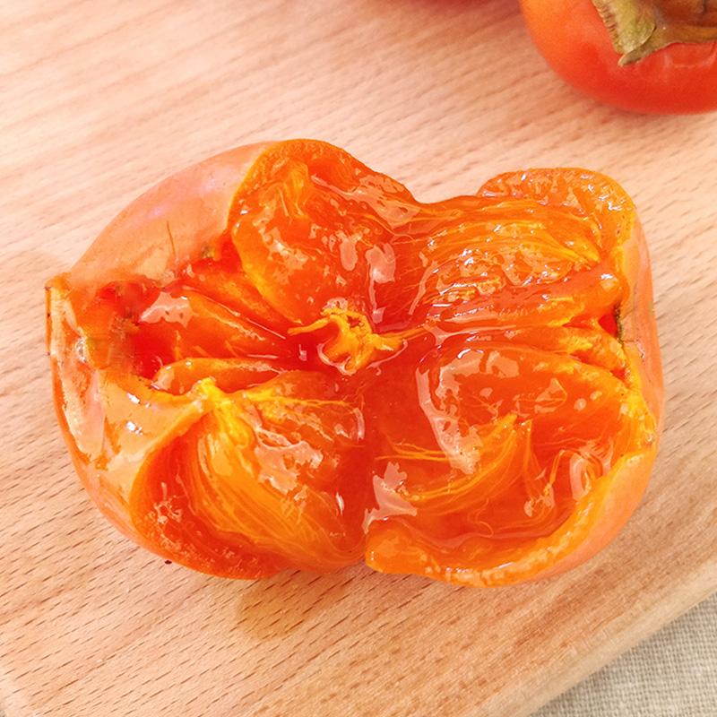 新鲜蜜桔柿子 清甜多汁个小