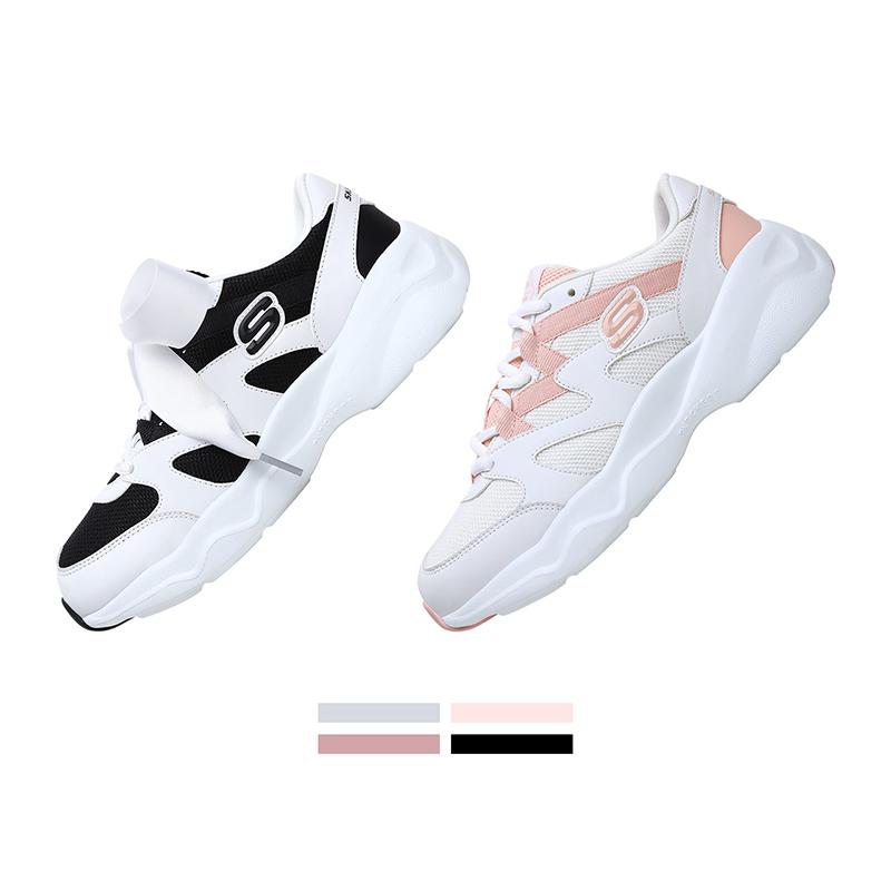 Skechers斯凯奇 蝴蝶结丝带熊猫鞋