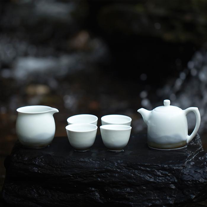 山水间 远山茶具套装 景德镇礼物