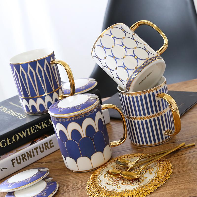 创意欧式英伦陶瓷马克杯