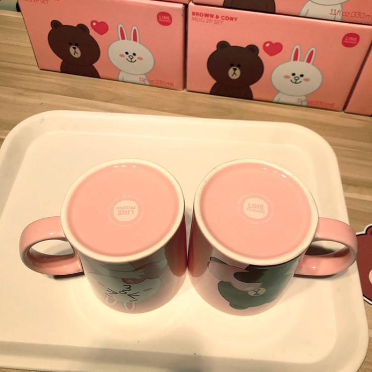 韩国布朗熊可妮兔情侣马克杯