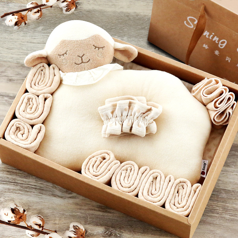 新生儿四季生态有机棉尿布礼盒