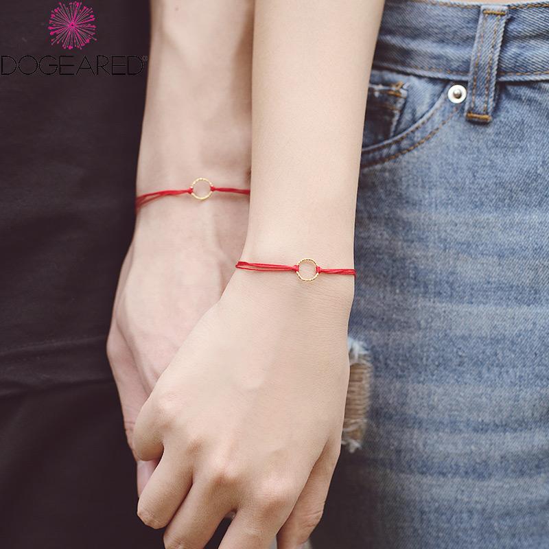 DOGEARED多琪儿 情侣红绳手链