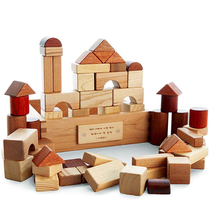 儿童早教益智 韩国木制积木玩具
