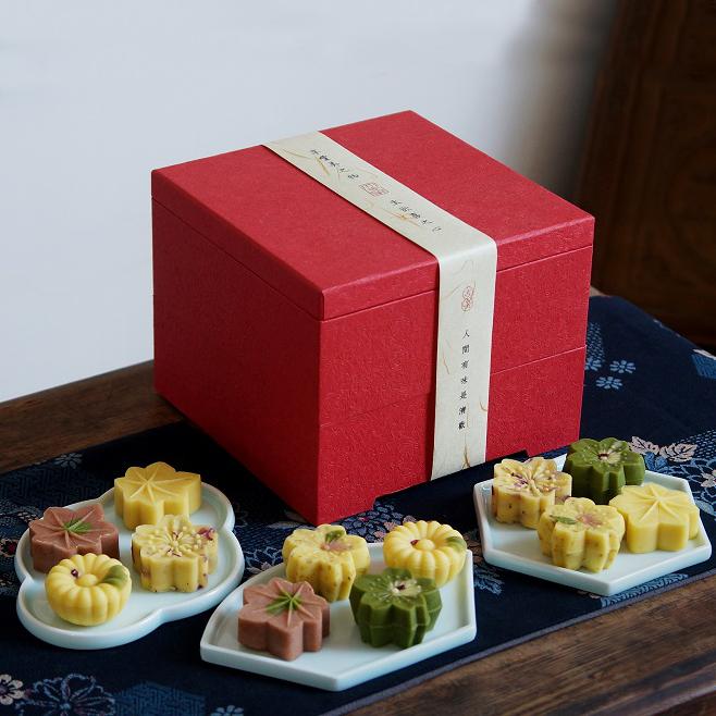 素直 绿豆糕茶点礼盒 混合中式传统