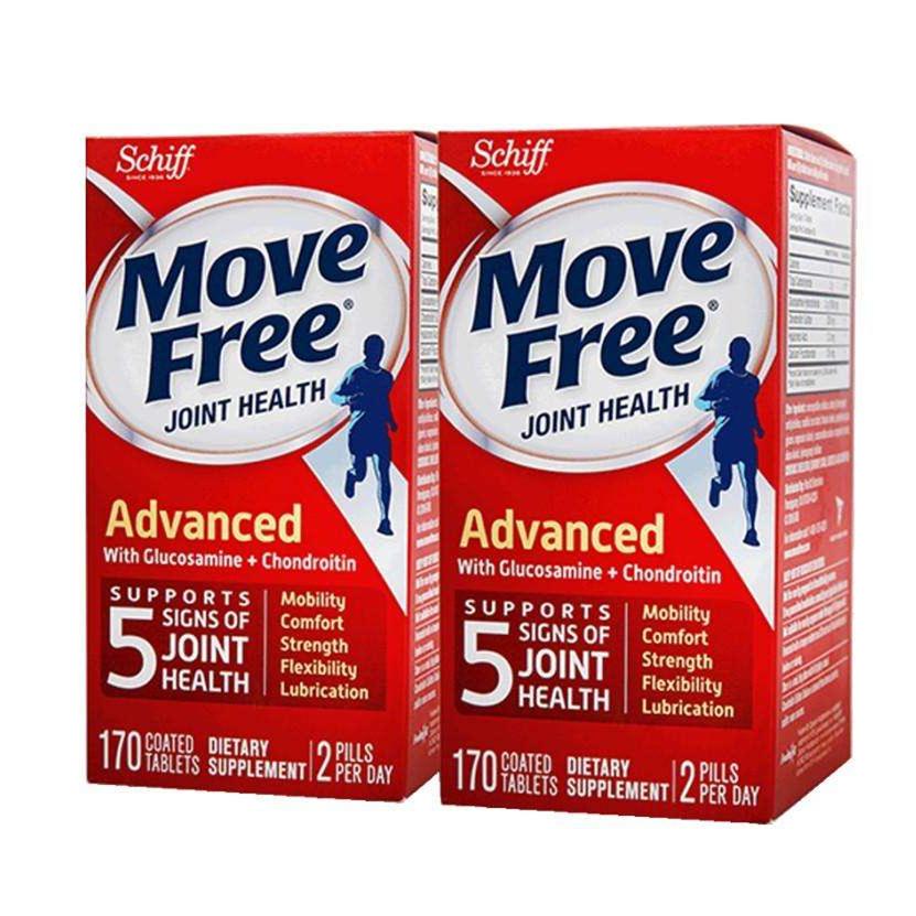 Schiff Move Free氨糖维骨力氨基葡萄糖MSM 绿盒120粒*2 美国进口