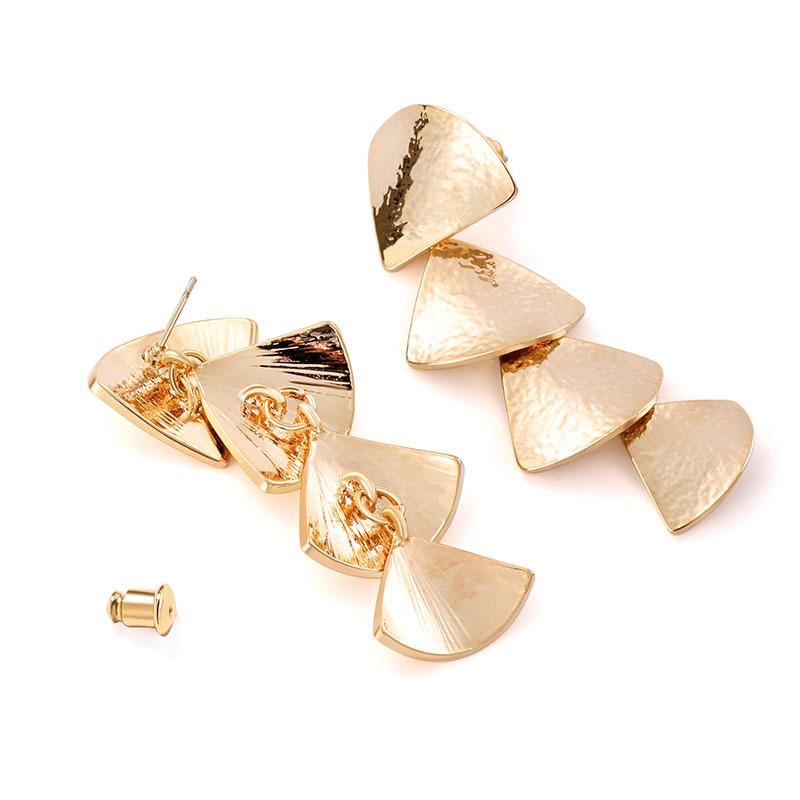 NICETER 金属风 扇形耳环