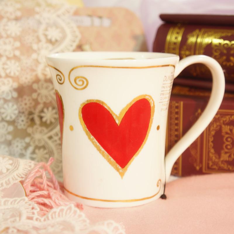 英国骨瓷爱心创意情侣杯