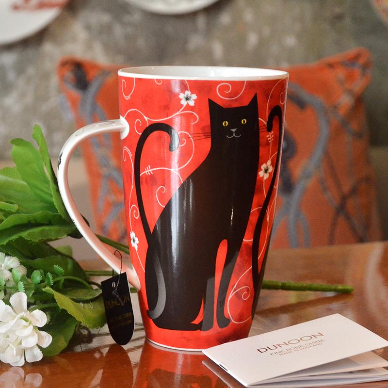 DUNOON英国骨瓷马克对杯 大容量杯子