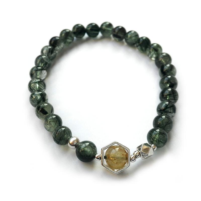 绿发晶财运手链