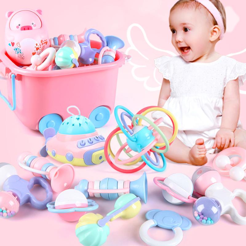 婴儿玩具手摇铃牙胶