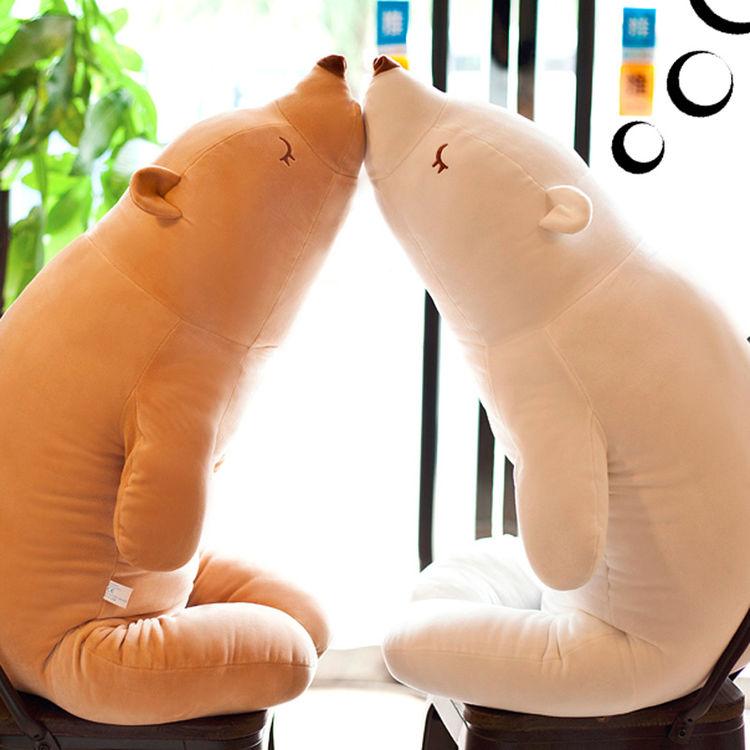 日系萌萌北极熊抱枕