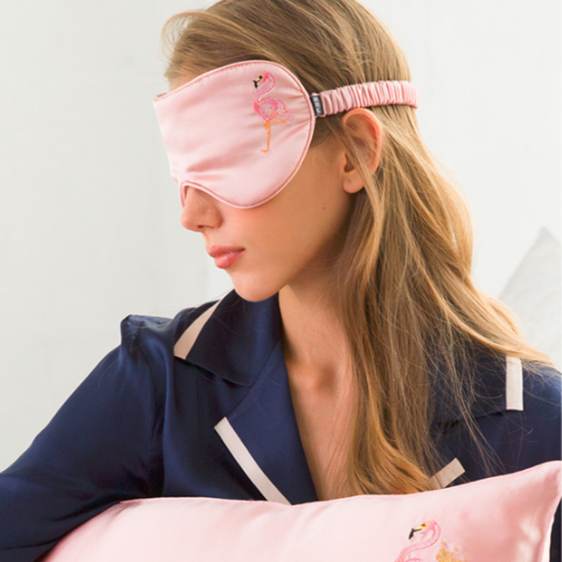 桑蚕丝刺绣双面真丝美容眼罩
