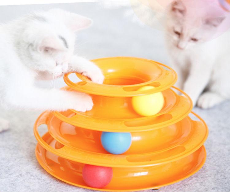 猫转盘球三层逗猫用品