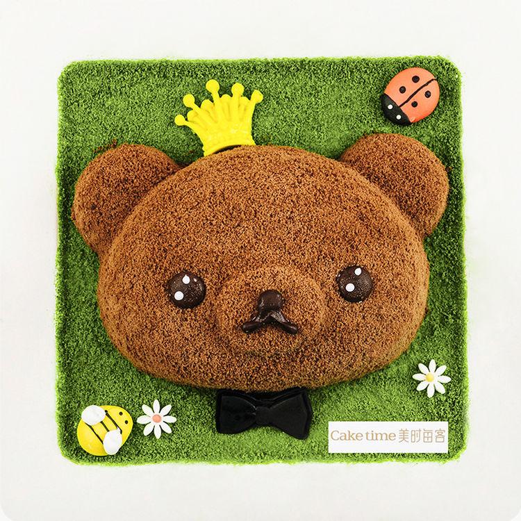 王子款DIY跳跳熊儿童蛋糕