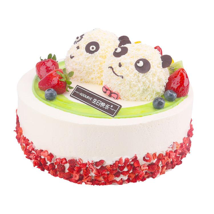 爱达乐 水果奶油儿童生日蛋糕