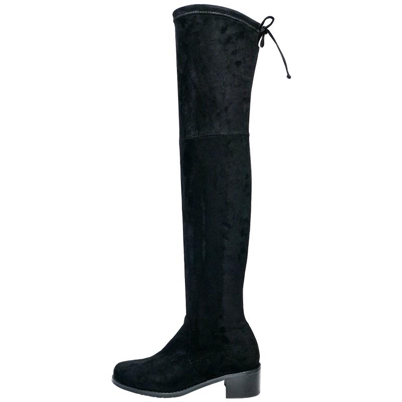 秋冬过膝中跟长筒靴
